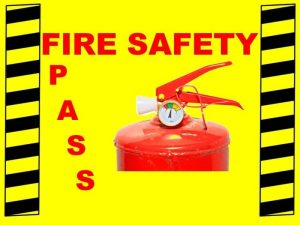Work Place Emergency and Fire Safety training